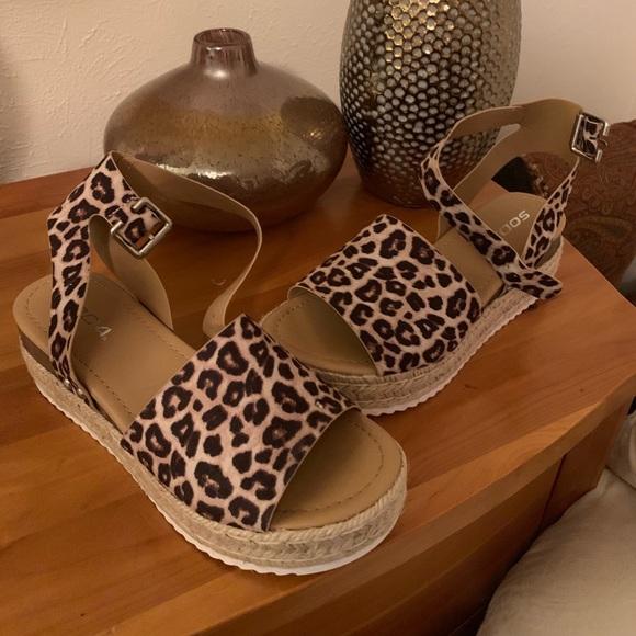 7ad2d4a4700 Darling Animal Print Espadrille Platform Sandal Boutique